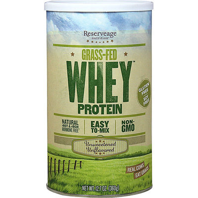 Reserveage Organics Grass-Fed Whey Protein Unsweetened Unflavored 12.7 oz