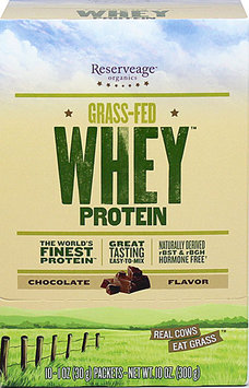 Reserveage Organics Grass-Fed Whey Protein Chocolate - 10 Packets