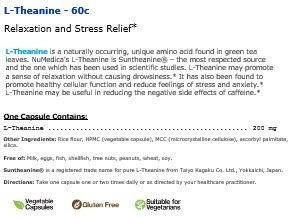 NuMedica L-Theanine 60 Vegetable Capsules