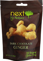 Next Organics Next Chocolates by Nature Dark Chocolate Ginger 3 oz