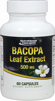 Nutritional Concepts Bacopa Leaf Extract 500 mg - 60 Capsules