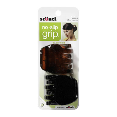 Conair Scunci No-Slip Grip Large Claw Clips