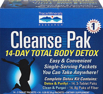 Trace Minerals Research Cleanse Pak 14-Day Total Body Detox 14 Packets