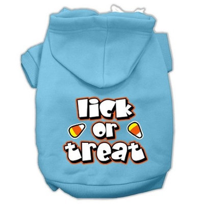 Mirage Pet Products Lick Or Treat Screen Print Pet Hoodies Baby Blue L (14)