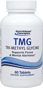 Nutritional Concepts TMG Tri-Methyl Glycine 60 Tablets