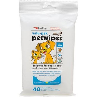 Petkin PetWipes for Dogs and Cats, 40 sheets