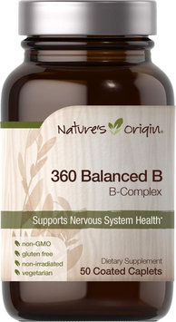 Nature's Origin 360 Balanced B Complex-50 Coated Caplets