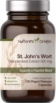 Nature's Origin St. Johns Wort Standardized Extract 300 mg-100 Rapid Release Capsules