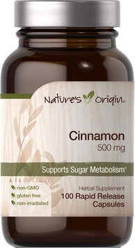 Nature's Origin Cinnamon 500 mg-100 Rapid Release Capsules