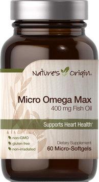 Nature's Origin Micro Omega Max 400 mg-60 Softgels