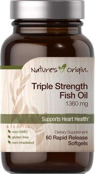 Nature's Origin Triple Strength Fish Oil 1360 mg-60 Rapid Release Softgels