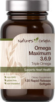 Nature's Origin Omega Maximum 3-6-9 Triple Omega-120 Rapid Release Softgels