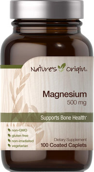 Nature's Origin Magnesium 500 mg-100 Coated Caplets