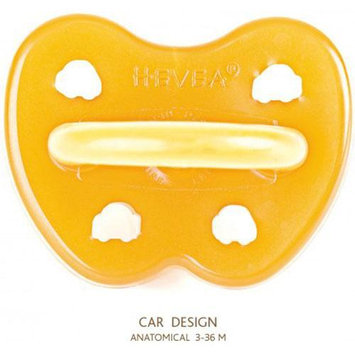 Hevea Baby Hevea Natural Rubber Orthodontic Pacifier - 3m+ - Car