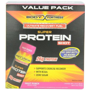 Body Fortress Super Protein Shot, Fruit Punch, 2.9 Ounce