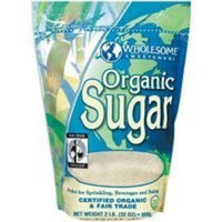 Wholesome Sweeteners Wholesome Organic Cane Sugar , 25 pound -- 1 each