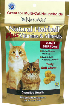 NaturVet 2-IN-1 Hairball PLUS Vitamin Soft Chew