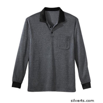 Silvert's Silverts 507300104 Senior - Polo Jersey Shirt for Mens Silver - Extra Large