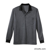Silvert's Silverts 507300103 Senior - Polo Jersey Shirt for Mens Silver - Large