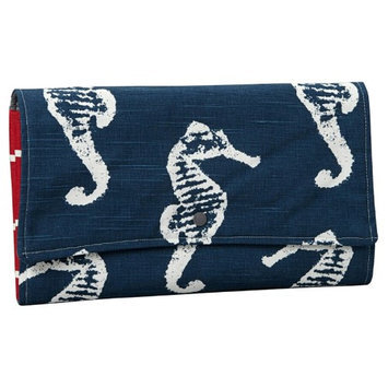 Brownie Gifts Navy Seahorse Diaper Clutch