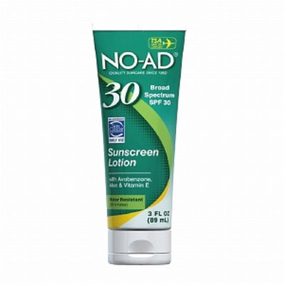 NO-AD Sunscreen Lotion, Travel Size, SPF 30, 3 fl oz