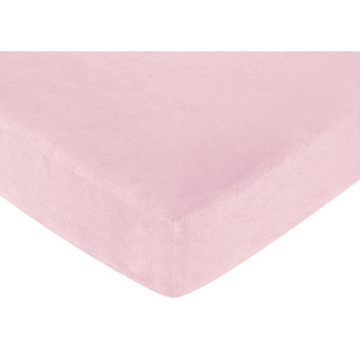 Jojo Designs Sweet JoJo Designs Pink Microsuede Fitted Crib Sheet