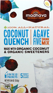 Madhava Agave Five Drink Mix Coconut Quench 6 Packets