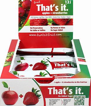 That's It Nutrition That's It Apple + Strawberry Bar-12 per Box