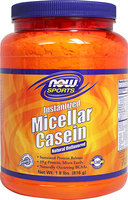 NOW Foods - Instantized Micellar Casein Natural Unflavored - 1.8 lbs.