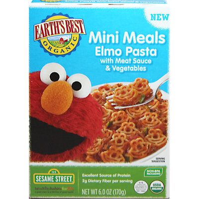 Hain Celestial Earth's Best Elmo Pasta with Meat Sauce & Veggies Mini Meals - 6oz
