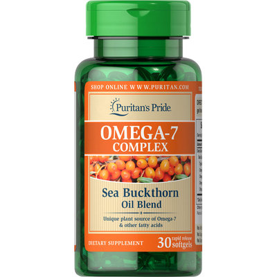 Puritan's Pride Omega-7 Complex Sea Buckthorn Oil Blend-30 Softgels