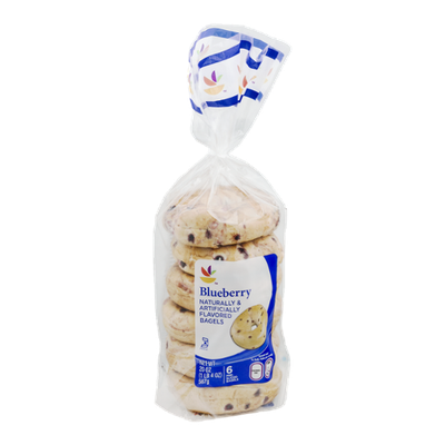 Ahold Blueberry Bagels Pre-Sliced - 6 CT