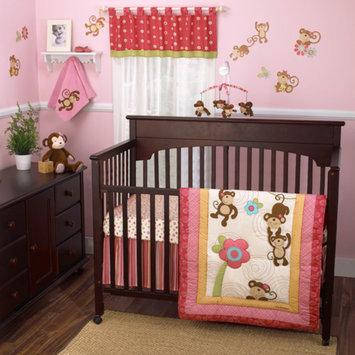CoCaLo CoCo & Company Melanie the Monkey 4-Piece Crib Bedding Set Collection Value Bundle