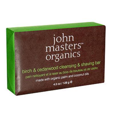 john masters organics Birch& Cedarwood Cleansing & Shaving Bar