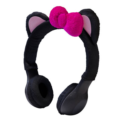 Sentron INTERWORKS UNLIMITED INC Mix Monster Headphones - Black Kitty