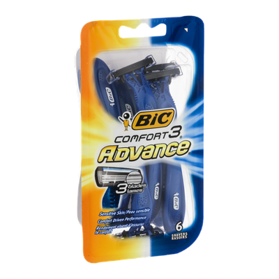 BIC Comfort 3 Advance Shavers - 6 CT