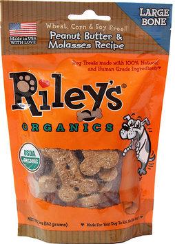 Riley's Organics Large Bone Peanut Butter & Molasses Dog Treats-5 oz Bag