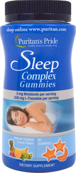 Puritan's Pride Sleep Complex Gummy with Melatonin & L-Theanine-60 Gummies