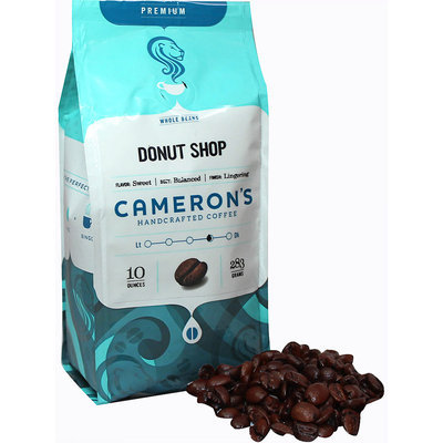 Cameron's Donut Shop Whole Bean Coffee-10 oz Bag