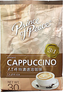 Prince Of Peace Instant 3 in 1 Cappuccino Packets-30 Packets