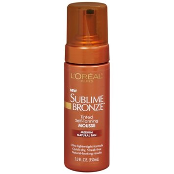 L'Oréal Paris Sublime Bronze Tinted Self-Tanning Mousse, Medium Natural Tan, 5 fl oz
