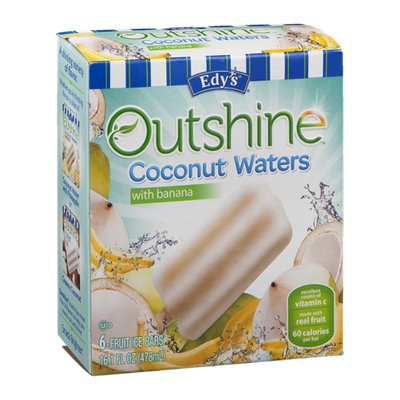 Edy's Outshine Coconut Waters with Banana - 6 CT