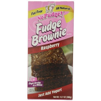 No Pudge! Fat Free Fudge Brownie Mix, Raspberry, 13.7-Ounce Boxes (Pack of 6)