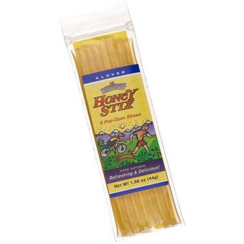 Madhava Honey Stix, Pure Clover Honey, 8 Count Bags (Pack of 48)