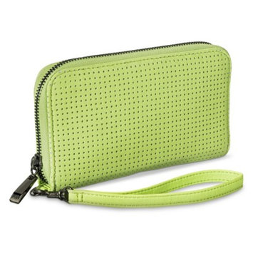 Merona Perforated Cell Phone Wallet with Removable Wristlet Strap - Neon