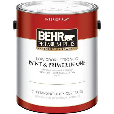 Interior Paint, Exterior Paint & Paint Samples: BEHR Premium Plus Paint 1-gal. Ultra Pure White Flat Zero VOC Interior Paint 105001