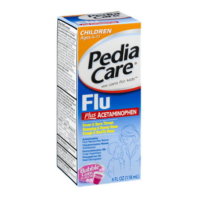 PediaCare Flu Ages 4-11 Bubble Gum Flavor