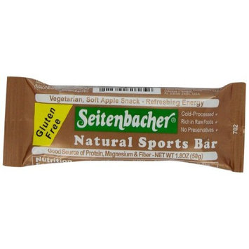 Seitenbacher Gluten Free Natural Sports Bar, Vegetarian, Soft Apple Snack-Refreshing Energy, 1.8-Ounce Bars (Pack of 12)
