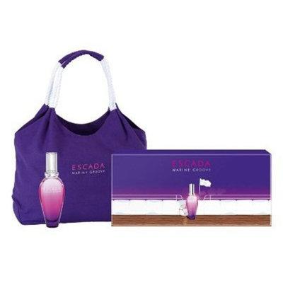Escada Marine Groove for Women Gift Set - 3.3 oz EDT Spray + Beach Tote Bag