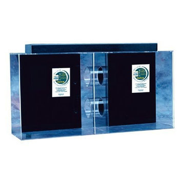 Clear-for-life Clear For Life Tube Aquarium Sapphire Blue, Size: 35-Gal (36W x 10D x 24H in.)